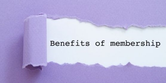 Image that says Benefits of memberships