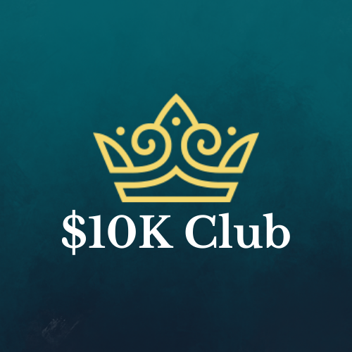 10k club logo in green background