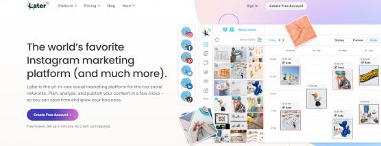 Later - IG Marketing Platform