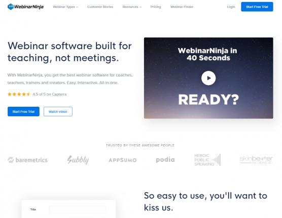 Webinar Ninja - Webinar Software built for teaching