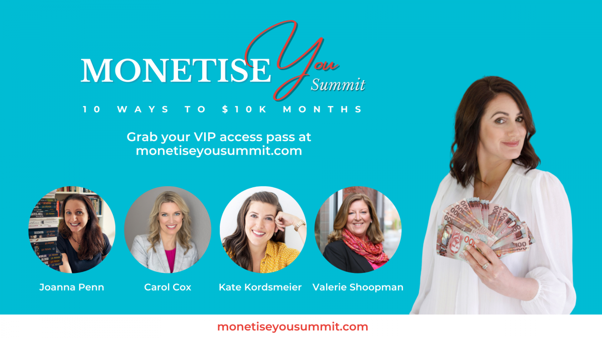 Monetise You VIP Access Pass banner with image of Natalie Sisson and guests